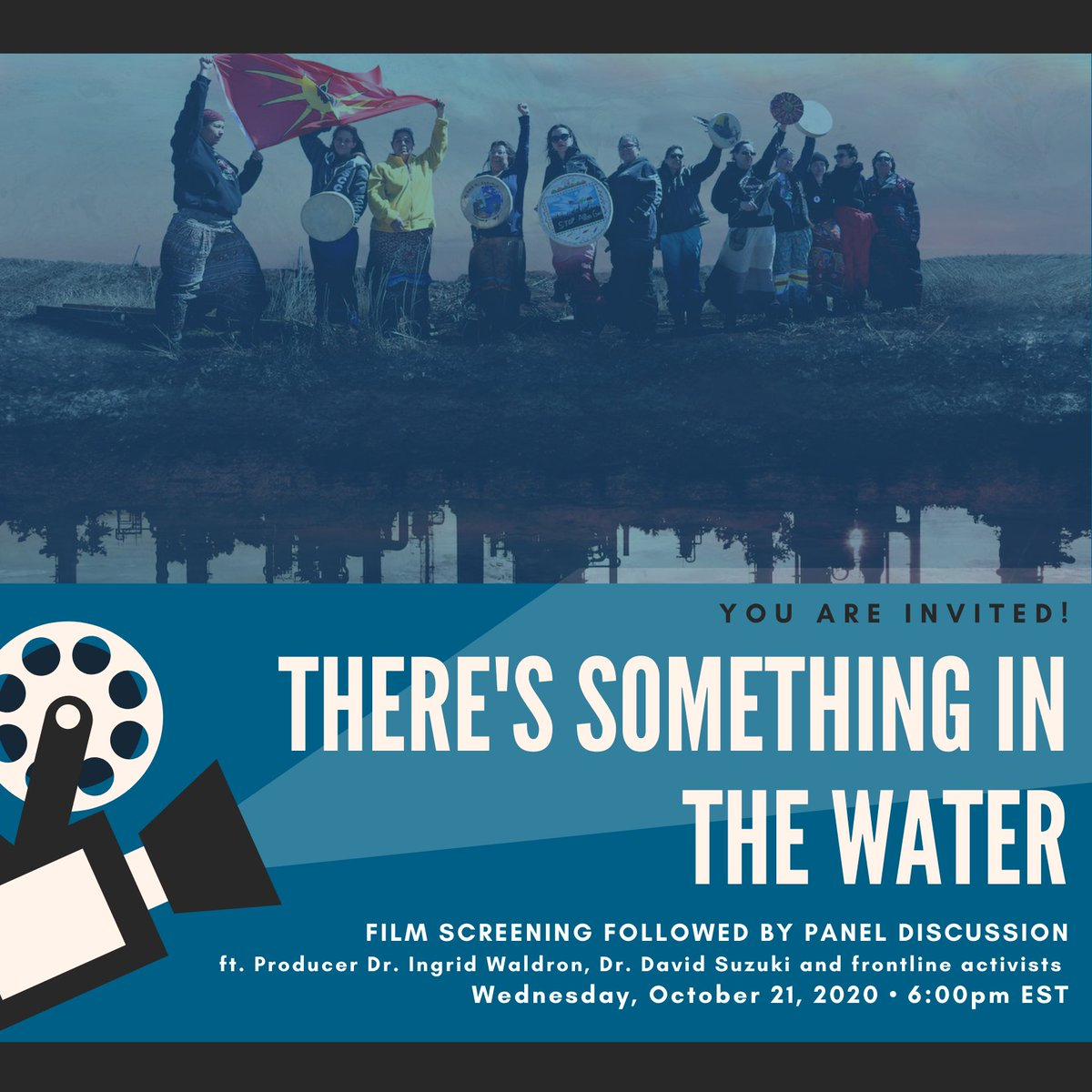 Tomorrow! Join us for a screening of Theres Something In The Water followed by a panel discussion with film producer, Dr. Ingrid Waldron, Dr. David Suzuki and frontline activists. RSVP here ➡️ bit.ly/2Fh4bGs