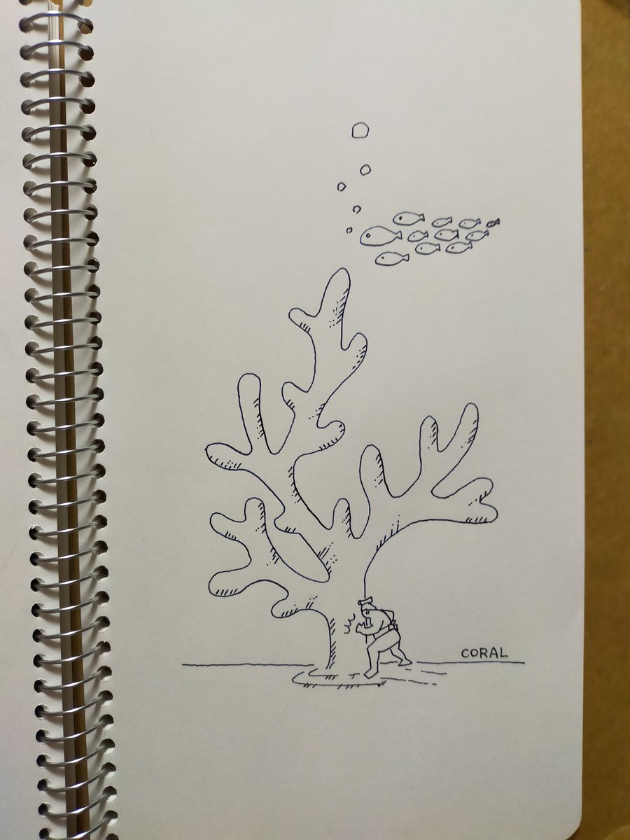 珊瑚でテッポウ #inktober #inktober2020 #coral #珊瑚 #インクトーバー #万年筆 #イラスト #illustration https://t.co/yPyxAA9L1z
