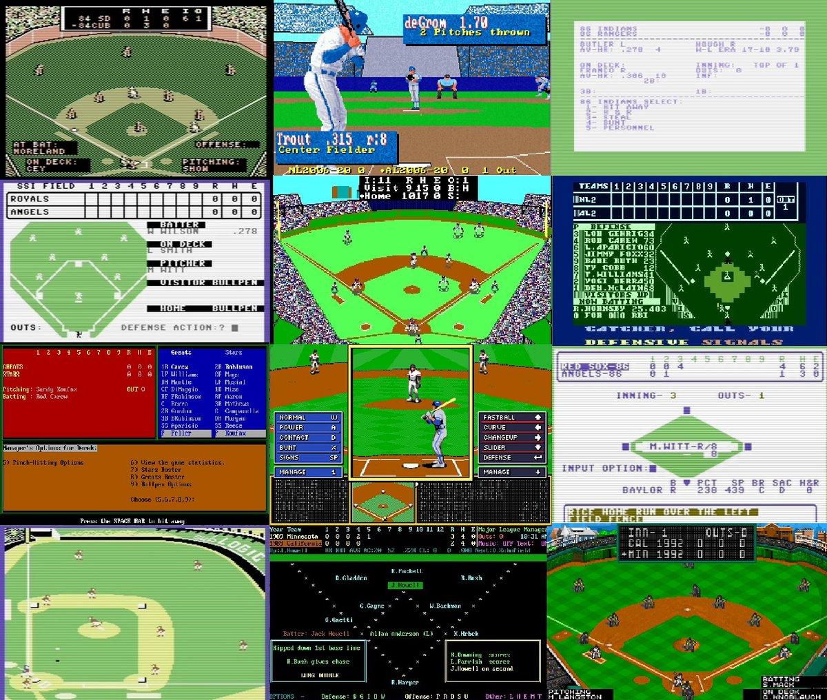 Retro Computer Baseball Game Reviews - a series focusing on computer baseball simulations https://t.co/dZdviIKEt7... #amiga #apple #atari #commodore #ibm #macintosh #tandy #electronicArts #MicroLeague #LanceHaffner #SSI #AvalonHill #Stormfront #SubLogic #retrogaming #APBA #strat https://t.co/4dRH7WVeV9
