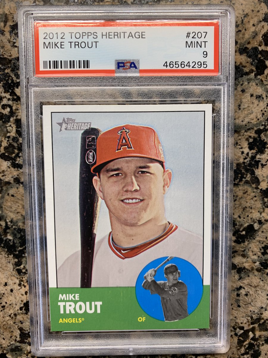 On sale now on my ebay account kalamatageo_7 this 2012 Topps Heritage Mike Trout  psa 9 Mint  for more then 350 psa graded new and vintage cards go to my ebay account kalamatageo_7 and send me an offer https://t.co/CmBFu6hkIl