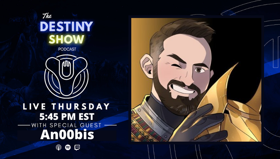 TheDestinyShow - Ears up Guardians. A new episode is here with the amazing @AN00BISGAMING. He shares his Destiny journey, the origins of GetRektLabs, and we bid farewell to our community manager, Deej. We also discuss raid things.  Streaming everywhere 👉   #ThankYouDeej