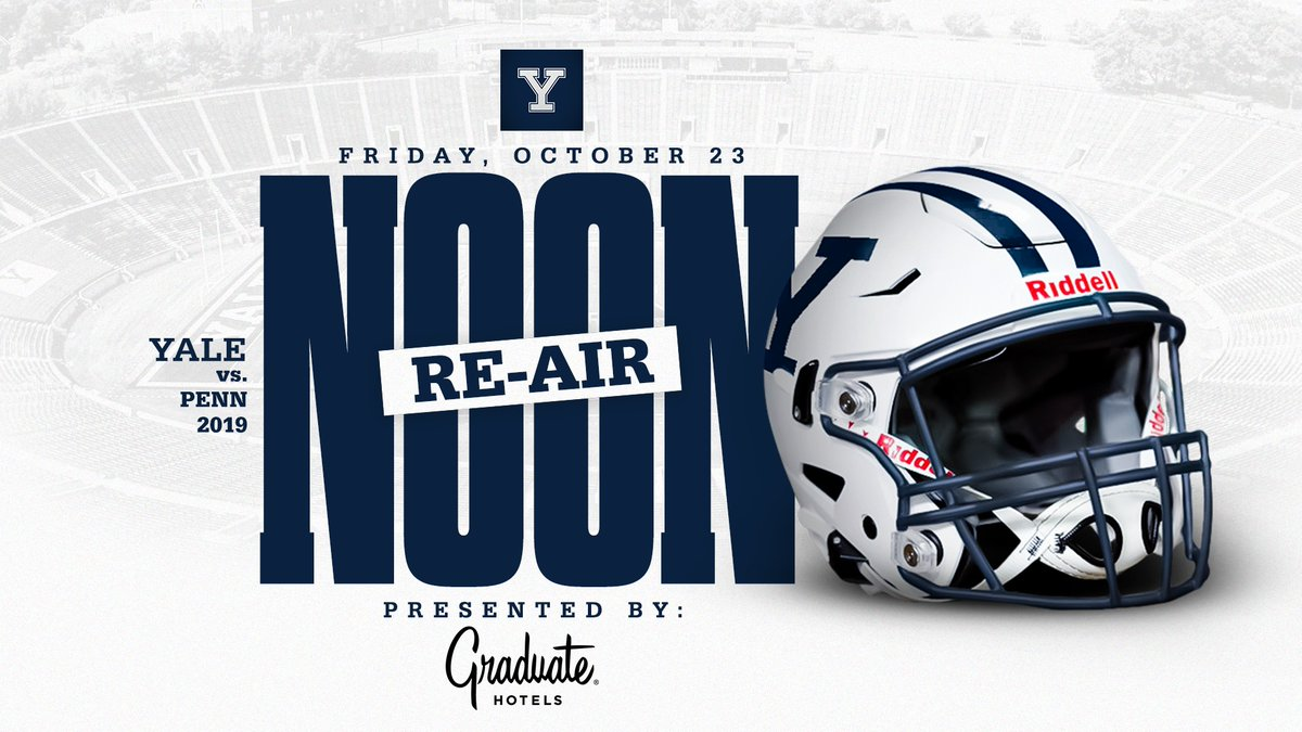 Were excited to bring you another Friday Football Re-Air brought to you by @Graduate_Hotels❕ This week we revisit our 2019 @IvyLeague battle with the Penn Quakers. #ThisIsYale