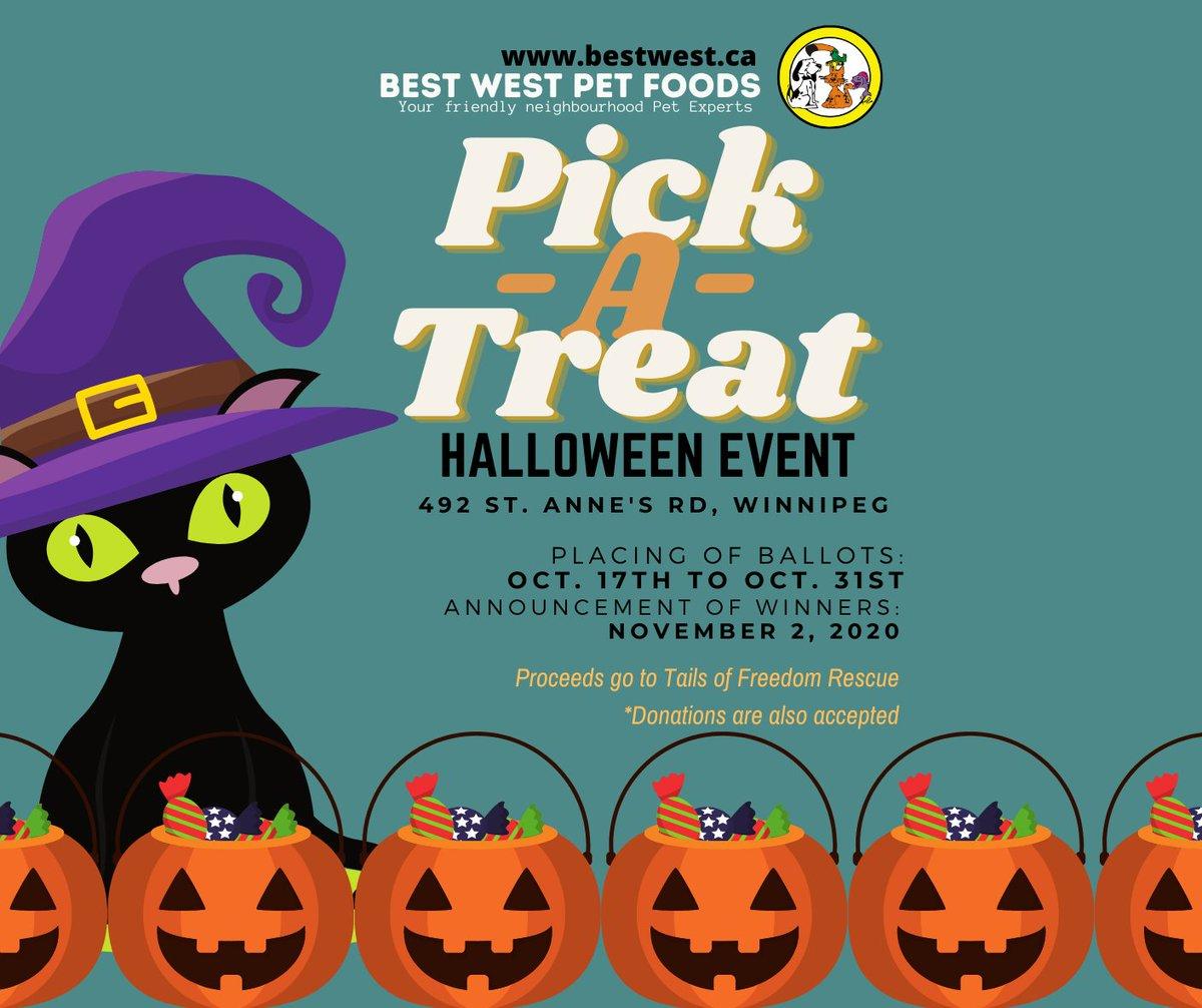 RT https://t.co/X3m15Szl2v We have an event in our Best West Pet Foods St. Annes location! Visit us in-store on or before Oct. 31. #bestwestpetfoods #winnipegevents #winnipeg #petsupplies #Ha… https://t.co/JVRe8UxetZ