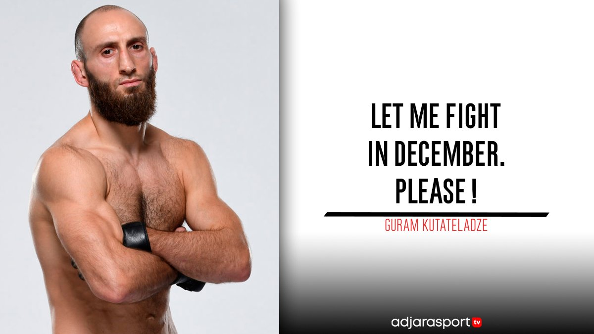 Guram Kutateladze is asking for a fight in December! ✊🏼🇬🇪  Who do you want to see him fight next? 🔥  #UFC #MMA #GuramKutateladze #GeorgianViking #GeorgianMMA #UFCGeorgia https://t.co/Jxe3H5Rp1L