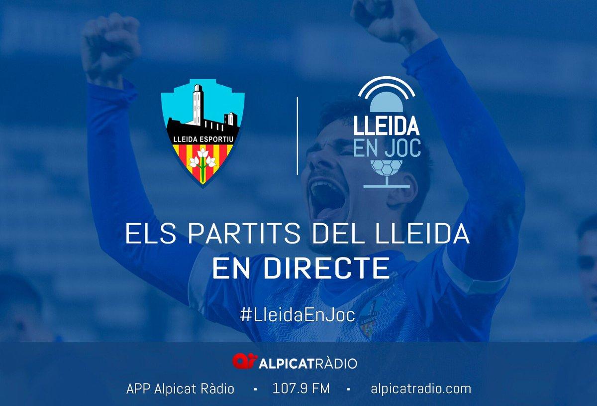 Donem la benvinguda a @LleidaEnJoc, el nou programa que informarà sobre els partits del @Lleida_Esportiu per @alpicatradio. Sort i èxits!
