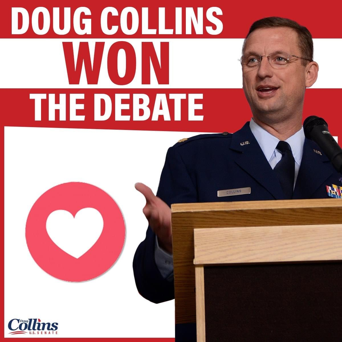 Over and over @RepDougCollins uses his uniform in campaign ads. It's against military regs and the Hatch Act. He's been told to stop and won't. It's ridiculous politicalization of the military. If that's all you've got Doug..go home and be a chaplain full time. #LincolnProject https://t.co/teBgcD9Tro