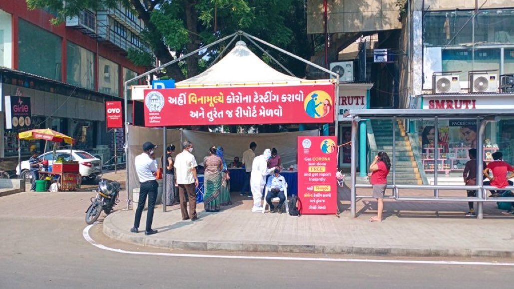 Test is Best AMC - Universal Access to Testing Walk In Test for corona at 116 such Kiosk installed in Ahmedabad City #ahmedabadfightscorona
