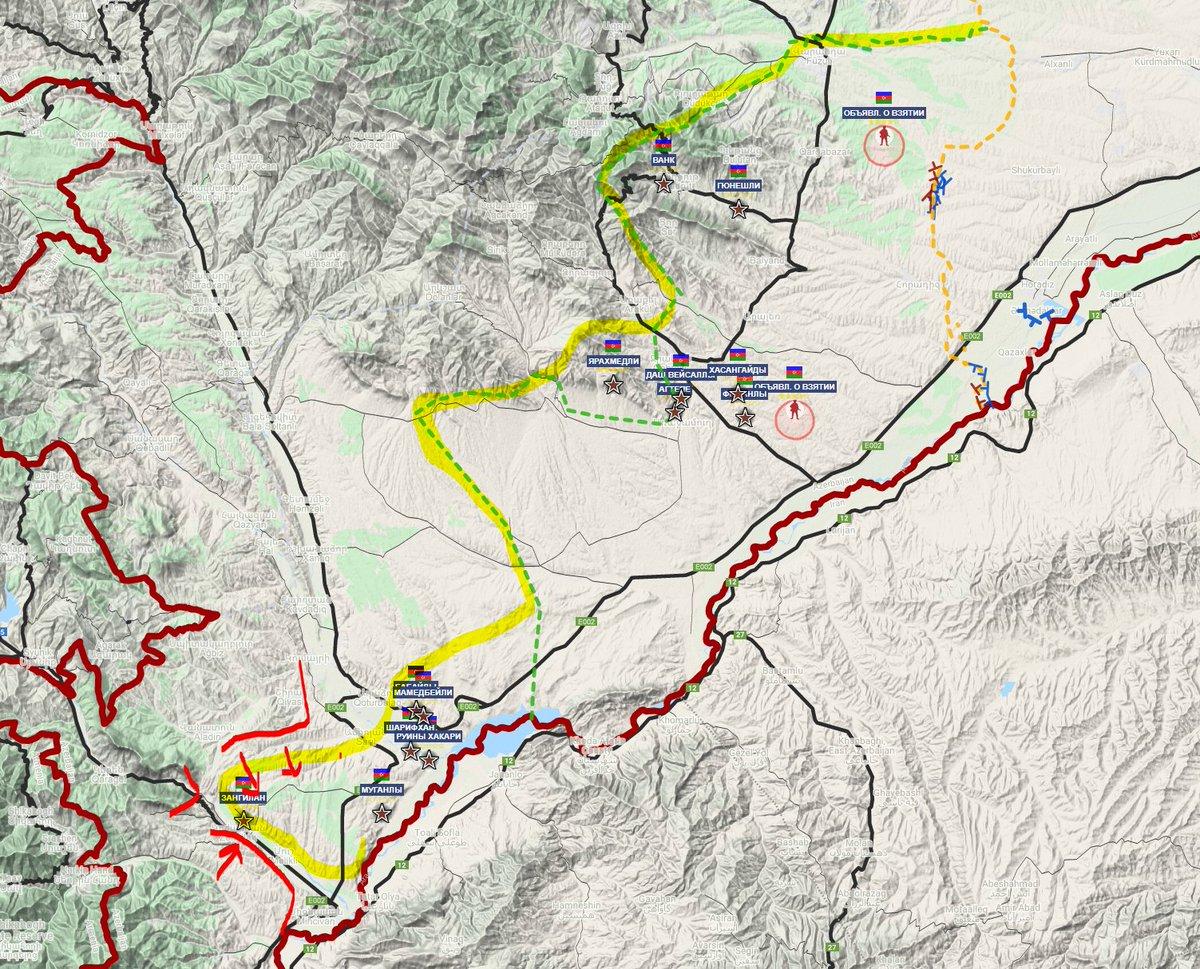 Сообщают, что после обеда армянская армия после артиллерийской подготовки начала контратаку в районе Зангелана.