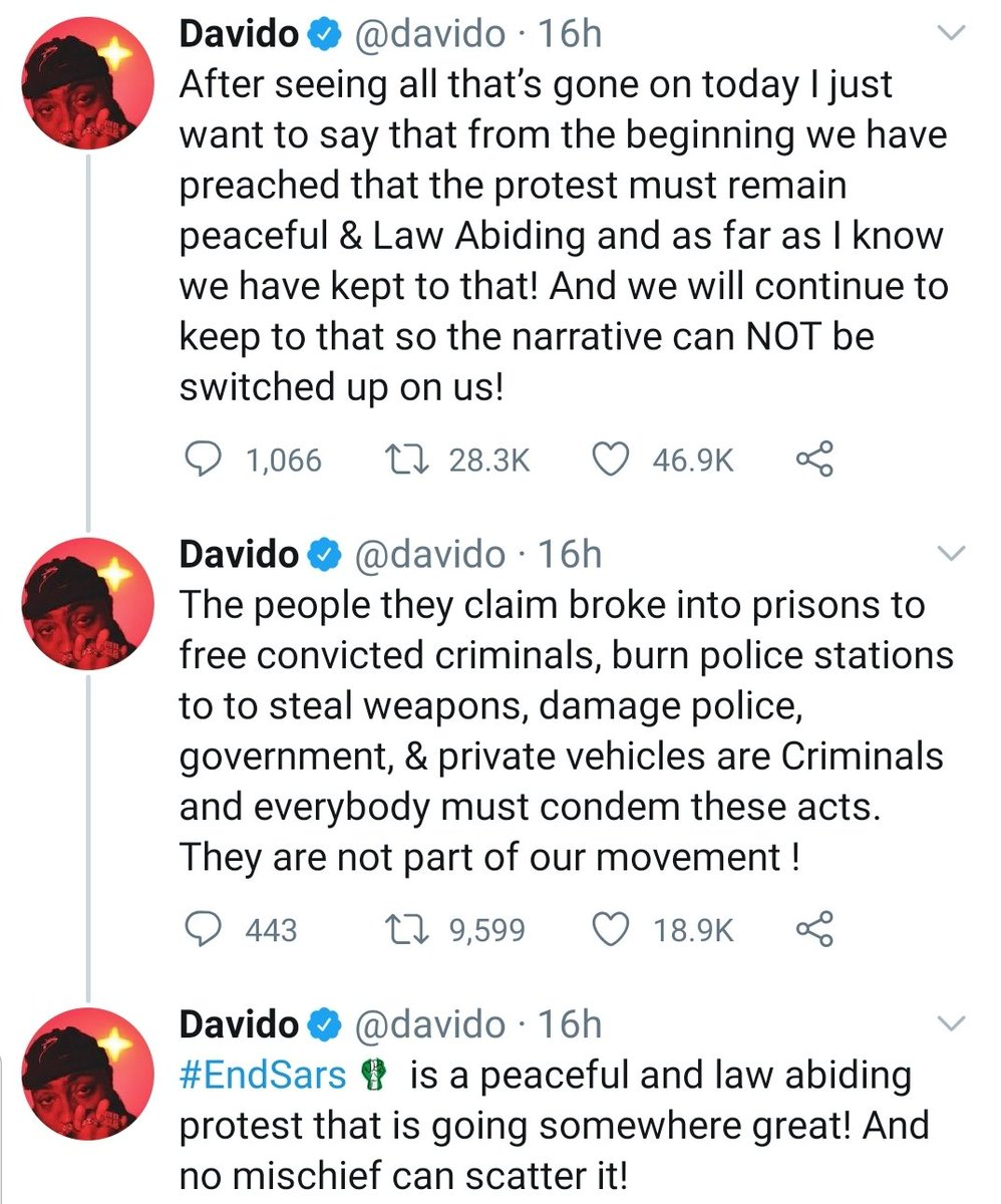 Davido on the events of the past 48 hours: