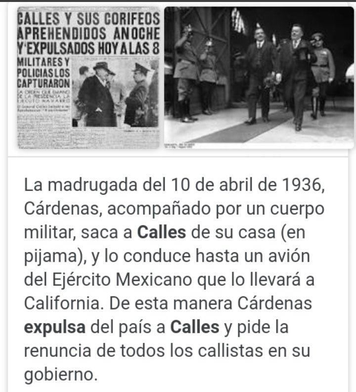 """Con este respeto trataba el presidente Lázaro Cárdenas a la oposición: Expulsó del país a Plutarco Elías Calles, """"El jefe máximo"""" de la Revolución https://t.co/3idkyTY1E2"""