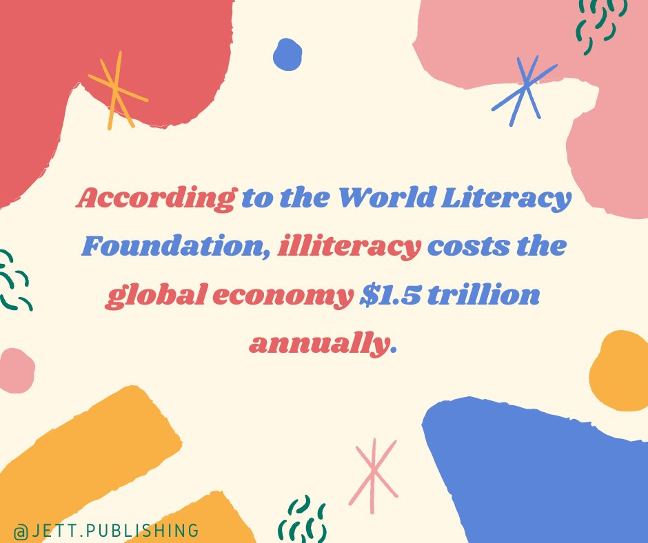 One cause of illiteracy is having a learning disability like dyslexia. It's surprising to learn that illiteracy can impact the global economy to such a large degree. Let us help your kiddo learn to read! #TalkAboutItTuesday #ReadingAndSucceeding #LetsEndDyslexia #JettPublishing https://t.co/E2irfSJ4gr