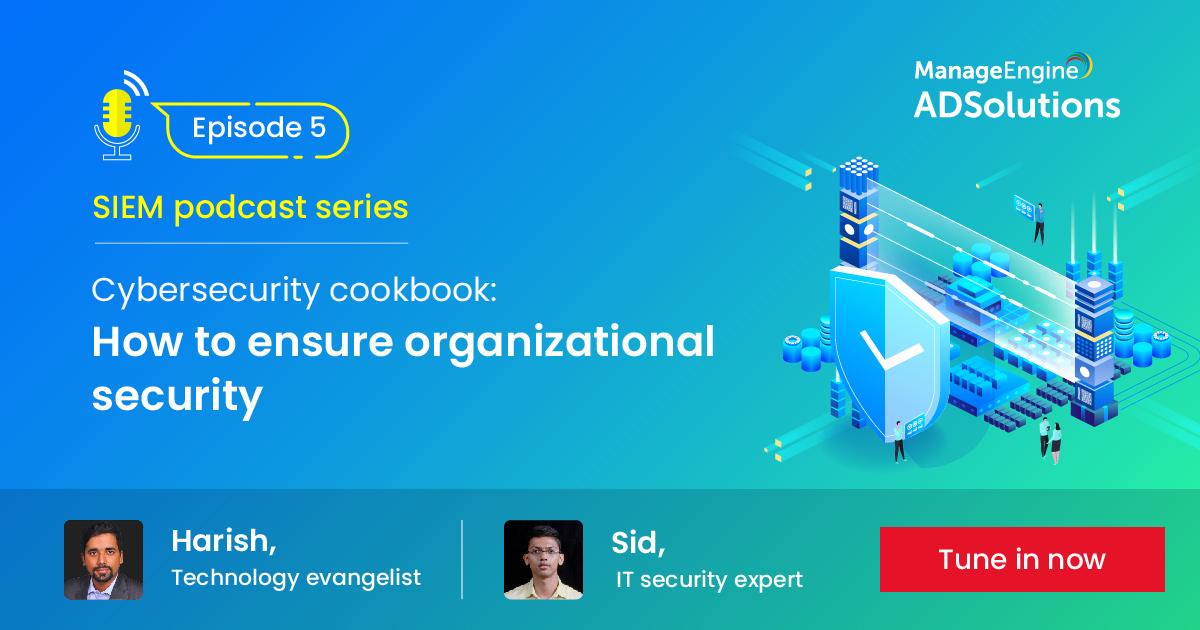 L'ultima parte della serie di #podcast di @ManageEngine vedrà Harish, Technology evangelist, e Sid, IT Security Expert, discutere su come implementare e garantire la migliore sicurezza aziendale 🛡💪  Non aspettare, iscriviti! ⬇  https://t.co/2ORWPsIW59 https://t.co/xujfIz9ck9