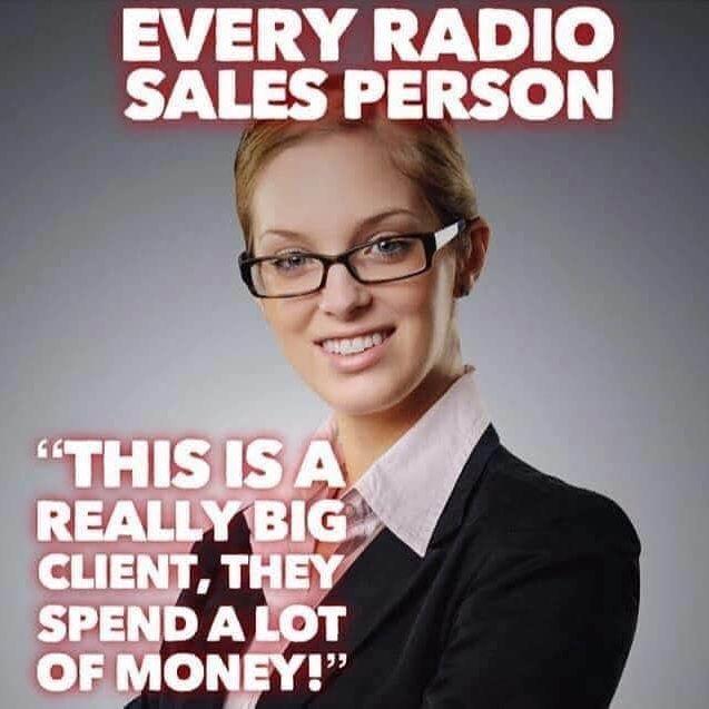 We really love salespeople!    #radio #audio #radioimaging #sungjingles #radiojingles24 #workethic #ontimedelivery #radioimaging  #presenter #broadcast #sound #jingles #voiceover https://t.co/rBEZdJueLd