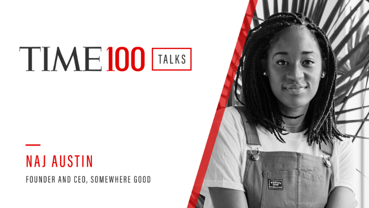 At a #TIME100Talks, Naj Austin, founder and CEO of Somewhere Good, talks about designing a social and wellness platform aimed at celebrating people of color https://t.co/e3CX0UXi7g