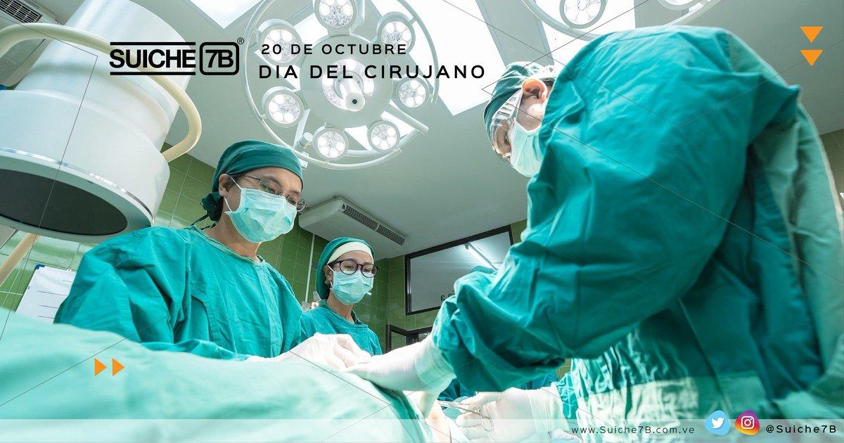 Felicitamos a @svcirujanos en el 76 aniversario de la fundación de la Sociedad Venezolana que los agrupa y en el día que celebran a los profesionales en esta especialidad. #diadelcirujano #cirujano #cirugia #salud #Venezuela #Caracas #sociedadvenezolanadecirugia https://t.co/KFTqMKsFo2