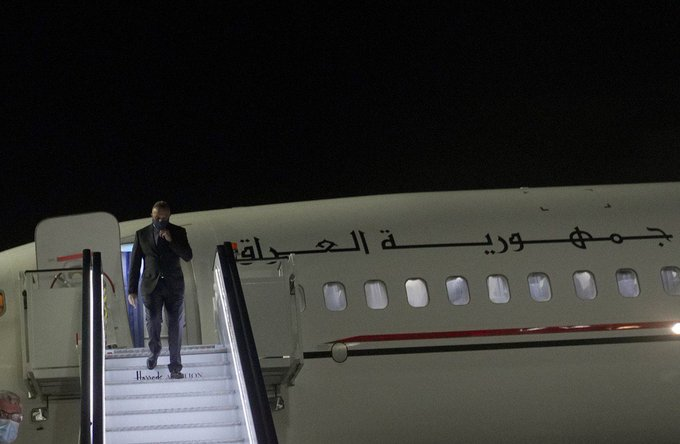 Iraqi PM arrives in London on last leg of European tour Eky4n7KXIAALibv?format=jpg&name=small