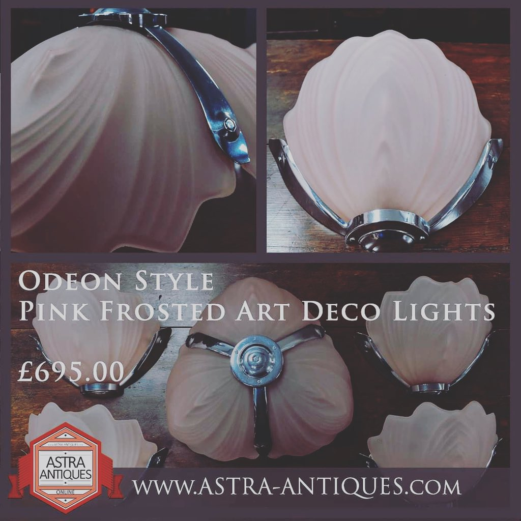 These beauties have been added to the website along with many more items. https://t.co/7ETIS127HE #odeon #pink #artdeco #walllights #decolights #ultimatelighting #astraantiquescentre #hemswell #lincolnshire https://t.co/NxM8joeTlQ