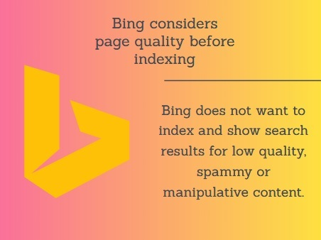 Bing does not want to index and show search results for low quality, spammy or manipulative content https://t.co/84zihzxRzq https://t.co/eyjRnjzyn6  #Site #Bingsearchresults #Bingsearch #Bing #Yahoo #Wikipedia #HSGRA #Search #Google #Bingresults #Lowquality https://t.co/Eh9vUtze9b