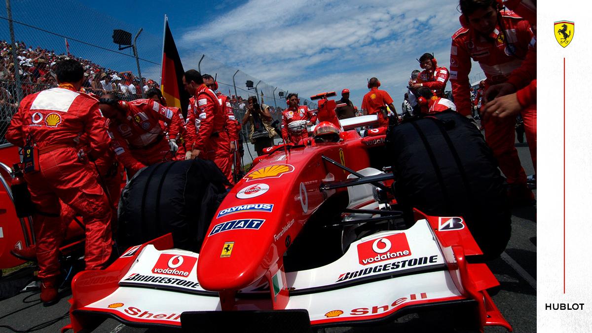 .@Schumacher…   Won 6️⃣9️⃣ Grands Prix Clinched 5️⃣ Drivers' Titles  Scored 1️⃣2️⃣1️⃣4️⃣ points   Retired, made a comeback and retired again   #essereFerrari 🔴 #PortugueseGP @Hublot https://t.co/zwLz5v7Oxk