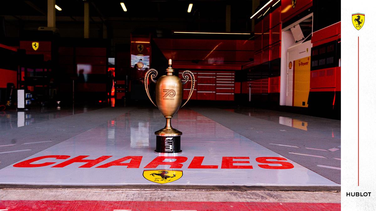 And #F1 turned 70 🥳  #essereFerrari 🔴 #PortugueseGP @Hublot https://t.co/u1W21JIGVF