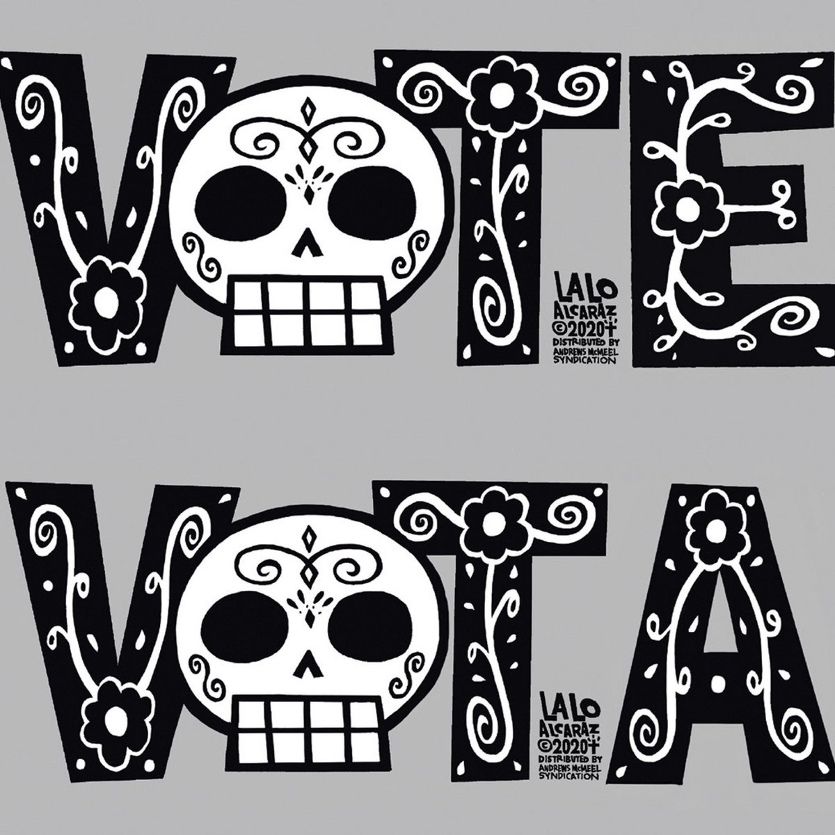 """The right to vote is precious, almost sacred. It is the most powerful nonviolent tool or instrument in a democratic society. We must use it."" - John Lewis. Art by @laloalcaraz. https://t.co/1HaQMdrsrk"