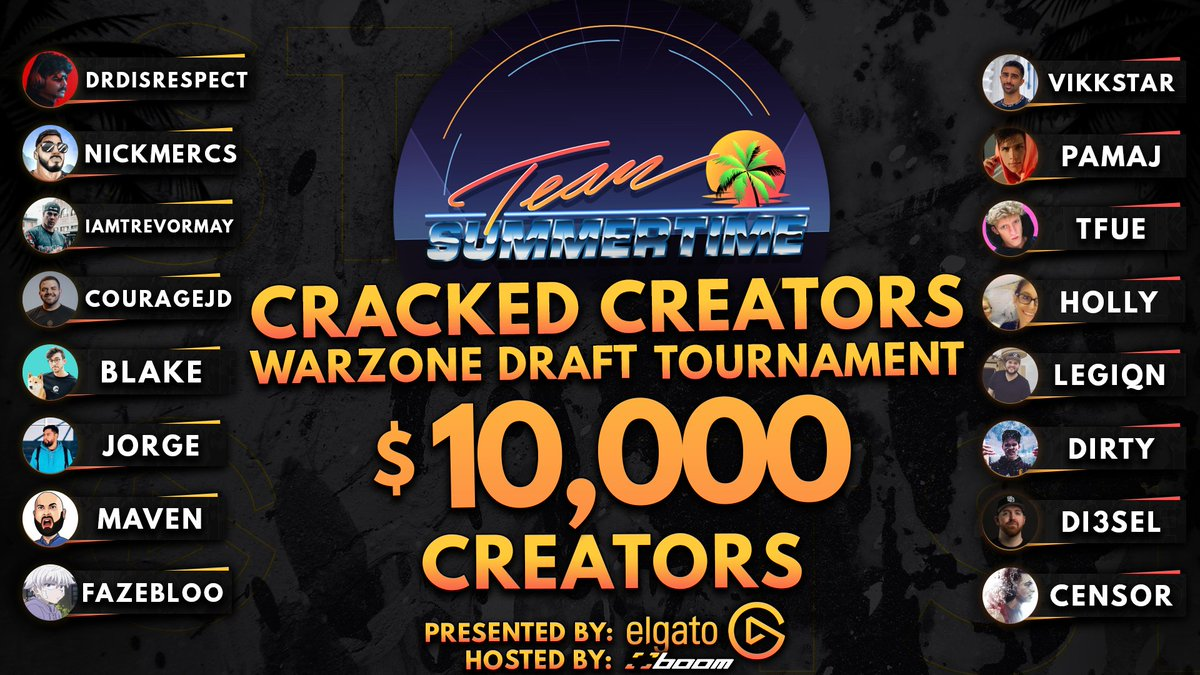 The 3rd Tournament of the @elgato Off-Season Series is this Wednesday!! 16 creators are going to draft 16 cracked players and then play in a 2v2 head to head tournament. All for a GREAT cause. Im so excited. CREATORS LIST: