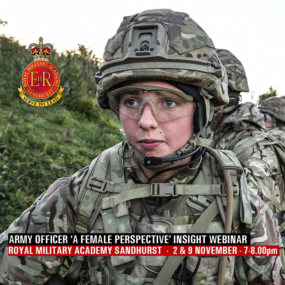 Want to know more about being a female Officer in the British Army? On the 2nd and 9th Nov (7-9pm) the Army Officer Recruiting Team will run 'Army Officer – A Female Perspective'. Interested? complete the form on this link: https://t.co/absICj6K8W #ArmyConfidence #female https://t.co/ruh7UNtSDa