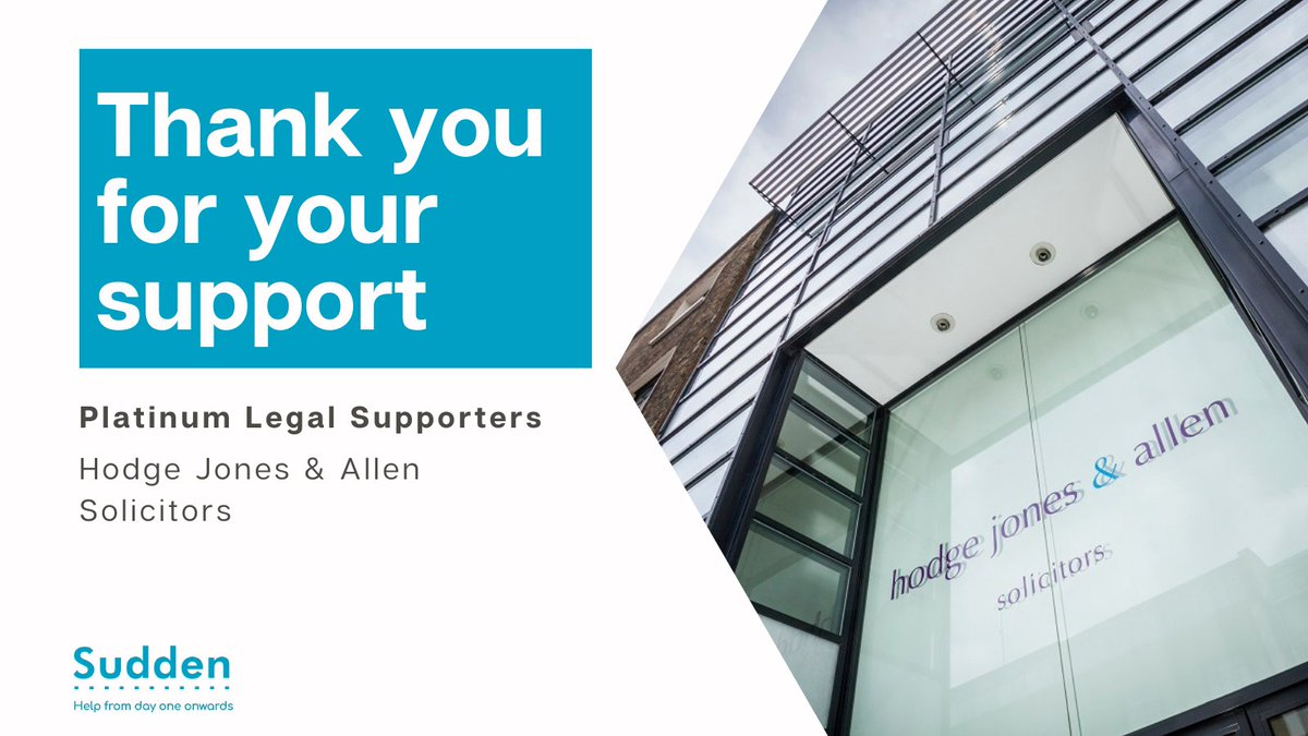 We are enormously grateful to our funding partners — your commitment to our vital service is heartening.   @hodgejonesallen are our first platinum sponsors, read why our service is important to them: https://t.co/iY6bvO2JDw  #suddencharity #bereavementsupport #suddenloss #charity https://t.co/u3UapQ66xq