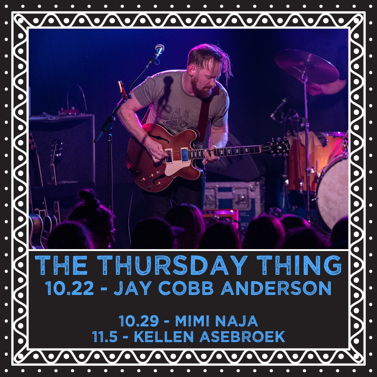 """We've updated the rotation and Jay will be taking over this week's Thursday Thing on Facebook at 4pm PT. Have you heard the new song """"Stand With You"""" yet? It's a brand new composition from Jay. 📷 Scott Seifert Photography"""