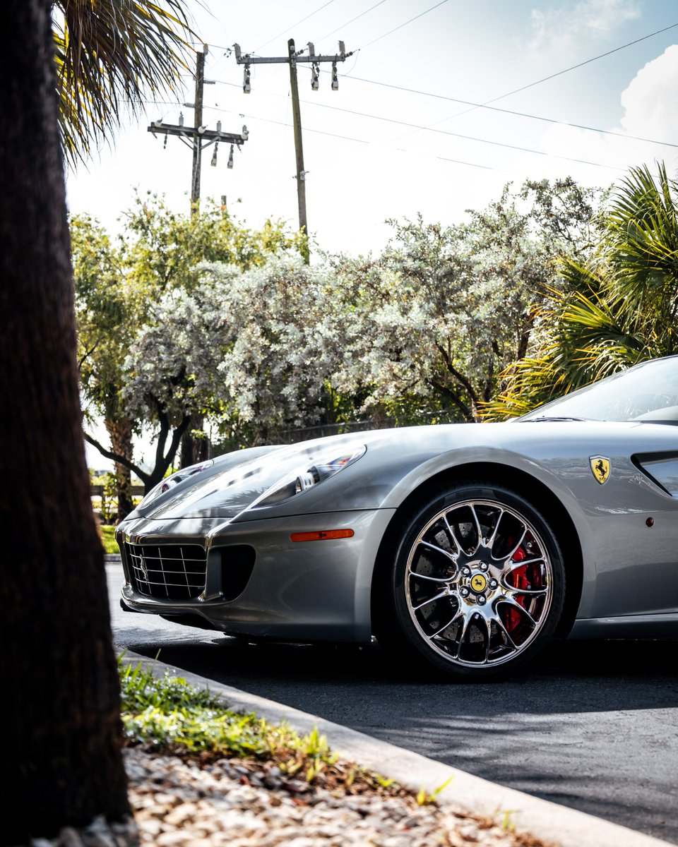 Every perspective offers a new eye-catching detail   With mighty acceleration and sleek design, the Ferrari 599 GTB Fiorano is a beautiful vehicle for the thrill-seeking driver.    #gotspeed #ferrari #ferrari599 #ferrari599gtb #ferrari599fiorano #ferrarigtbfiorano https://t.co/5mda34y6Di