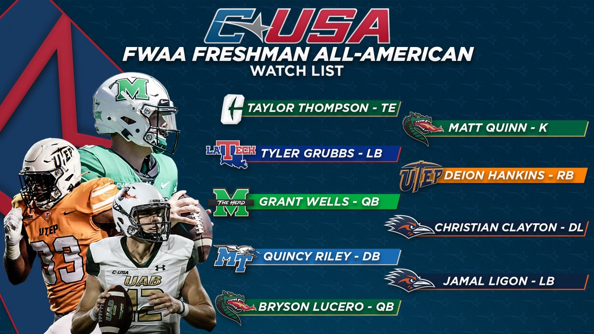 New guys making an impact 👊  Congrats to our 9️⃣ #CUSAFB freshman earning a spot on the FWAA Freshman All-American Watch List!  #TheCUSAWay | https://t.co/DNAza4354E https://t.co/3hhWhI2wBj