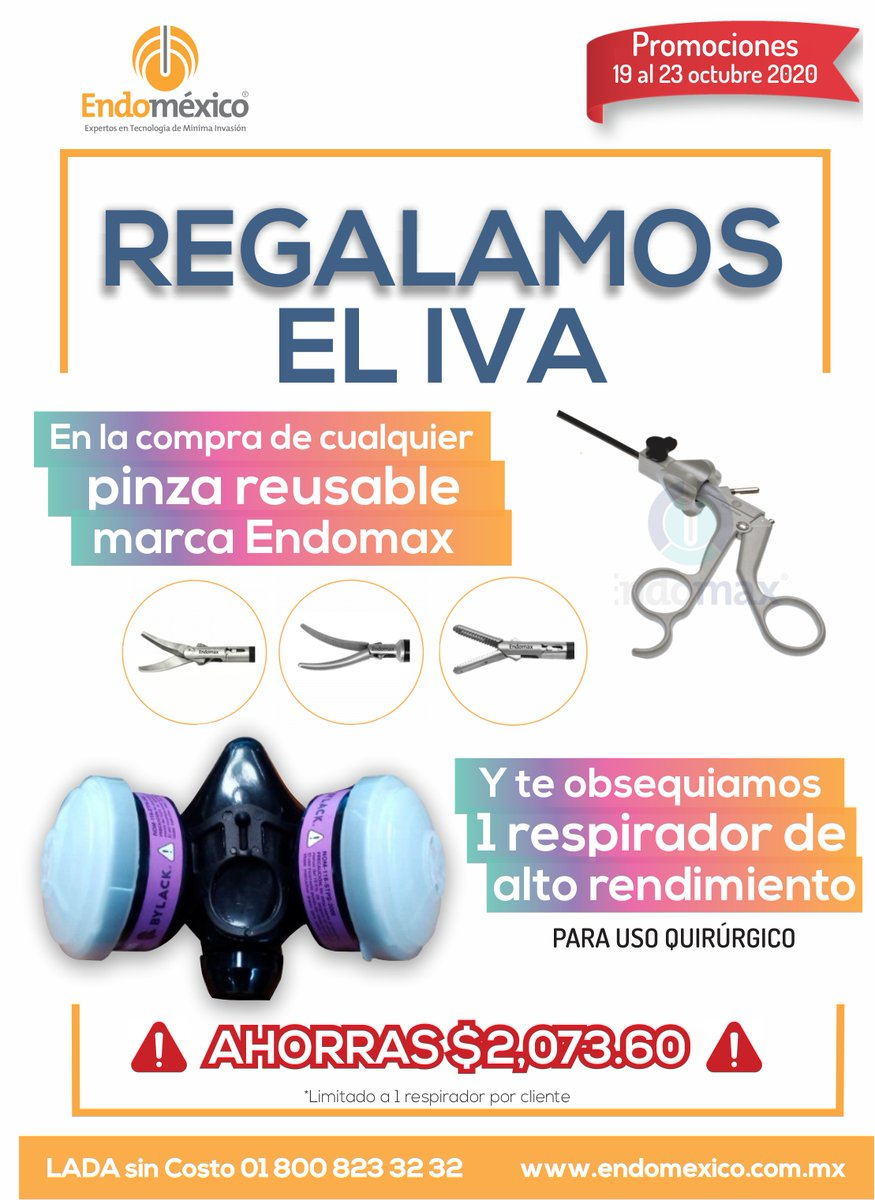 🔥⚡️ SÚPER HOT SALE ⚡️🔥  ⏰ Solo por tiempo limitado: hasta 23 octubre 2020 📞 LADA sin Costo: 01 800 823 32 32 📱WHATSAPP: (+521) 22 24 55 99 75  #laparoscopia #endomexico #cirugia #cirujanos #laparoscopy #salud #laparoscopistas #instrumentalmedico #quirofano https://t.co/iFZ3GqAx7m