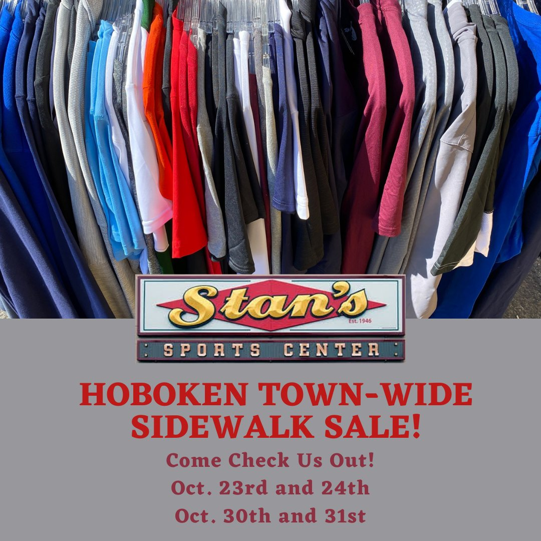 Come Check us out this Friday the 10/23 and Saturday 10/24! @CityofHoboken Town-wide Sidewalk Sale!  #sidewalksale #sale #retail #shop #shoptilyoudrop https://t.co/eeb4Nf6EXR