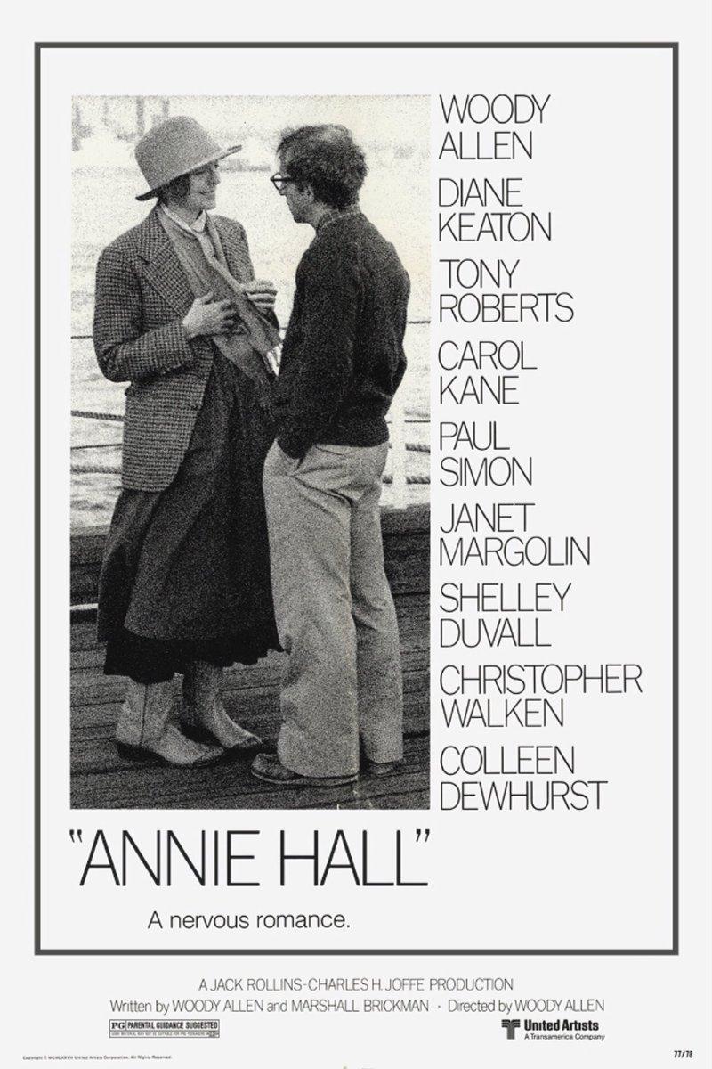 Annie Hall (1977)  Filmnya singkat tp kek lama krn dialognya panjang2. Di masa ini udh ada stand up comedy. Film yg memenangi 4 kategori dr 5 kategori yg masuk nominasi Oscar 1978, salah1nya adl film trbaik  #AnnieHall #OscarWinner #OscarNominee #BestPicture #AcademyAward #Oscars https://t.co/DDlCbRZ8vX