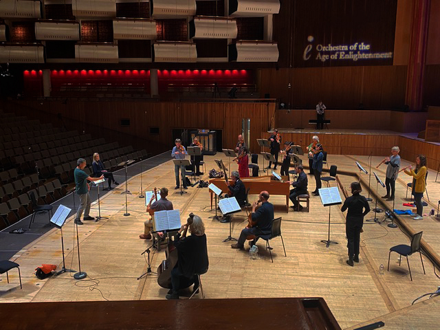Here's a peak at rehearsals ahead of tonight's concert - hear @Sviceridor and @theoae live from the @southbankcentre from 7.30pm. Listen on @BBCSounds bbc.in/2HndODY