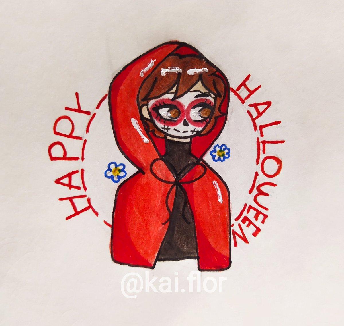 Subo este dibujo para tener algo gente XD, es el icon que cree para Halloween, decidí juntar a Caperucita Roja y una Catrina (me encantan ❤u❤)  #draw #dibujo #Hallowen #icon #artista https://t.co/iJivcfHMQz