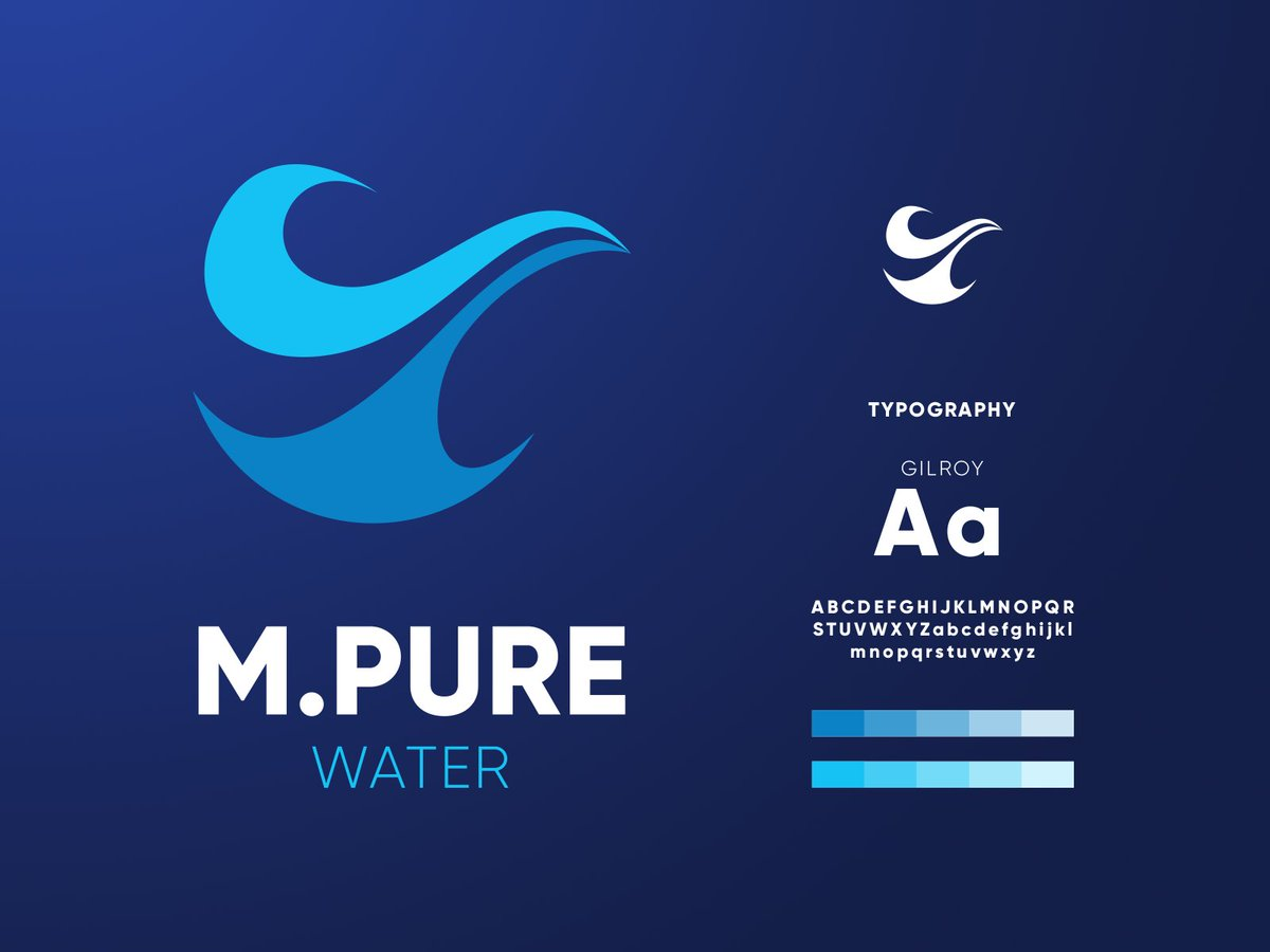 Brand exploration for M.Pure  Better view: https://t.co/P1w9REs6Xd  #logo #branding #logodesign #icon #identity #logotype https://t.co/Qj0WsAT3uO