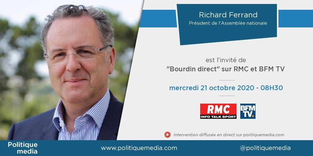.@RichardFerrand sera, demain mercredi 21 octobre à 08:30, l'invité de