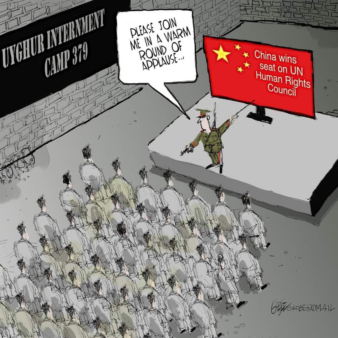 #CCP #Chinazi #Uyghurs #EastTurkistan #ConcentrationCamp #UN #UNHumanRightsCouncil #UNHRC #OHCHR https://t.co/2g64JgDERQ