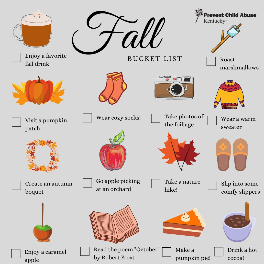 Are you and your family looking for fall activities to do together this season? Check out this Fall bucket list for ideas! Spend time together making memories that will last a lifetime. #GreatChildhoods #NurturingParenting #Autumn https://t.co/Vg1e1MCK2Q