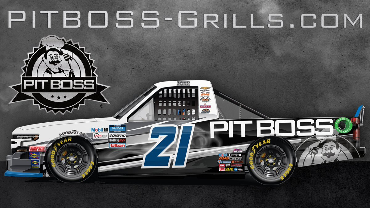 Smoke show 💨  @zanesmith77 // @PitBossGrills   #WeAreGMS #NASCAR #PitBossNation https://t.co/NOTkOqt7g0