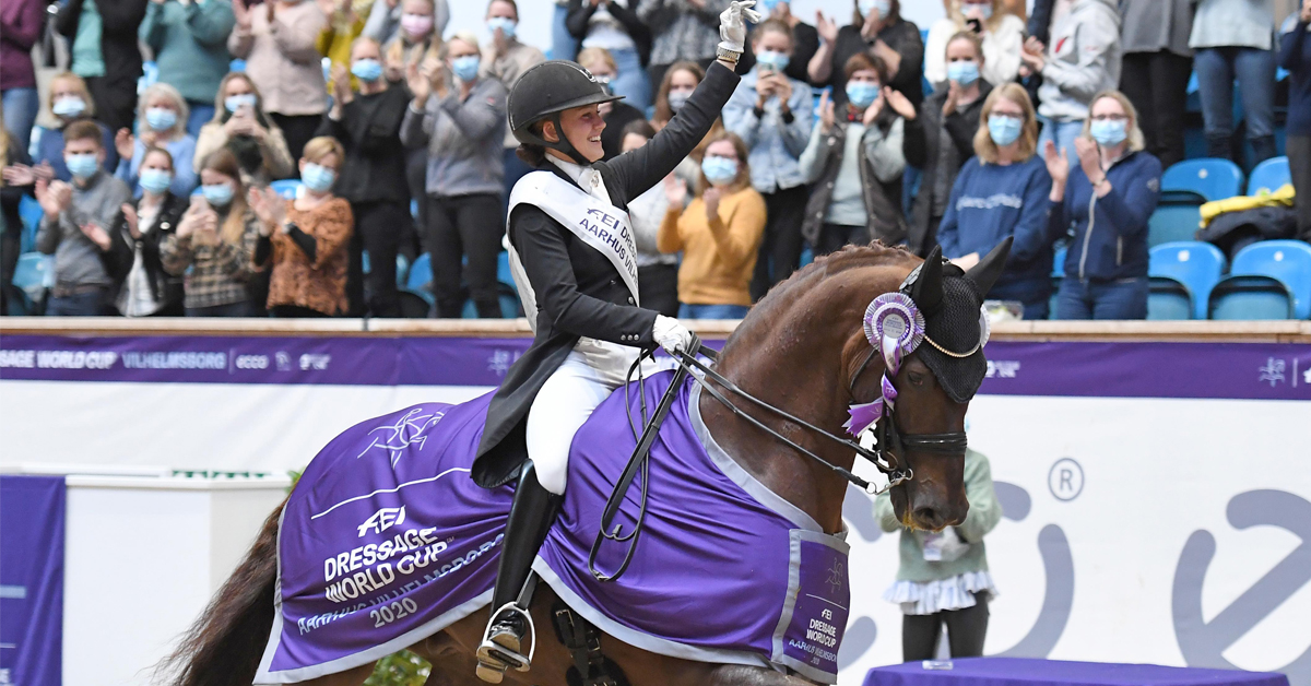 @CathrineDufour and Bohemian Win World Cup on Home Ground It was another dream double for Dufour at the first leg in Denmark while Germany's Werth and von Bredow-Werndl finish second and third. https://t.co/bICsujT4yD https://t.co/Ao3kMxTXnY