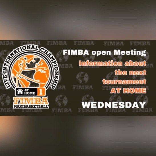 Miércoles 21 - Wednesday21th   Live -  FIMBA Facebook  #athome #encasa #fimba #fimbamaxibasketball https://t.co/sveBj5banU