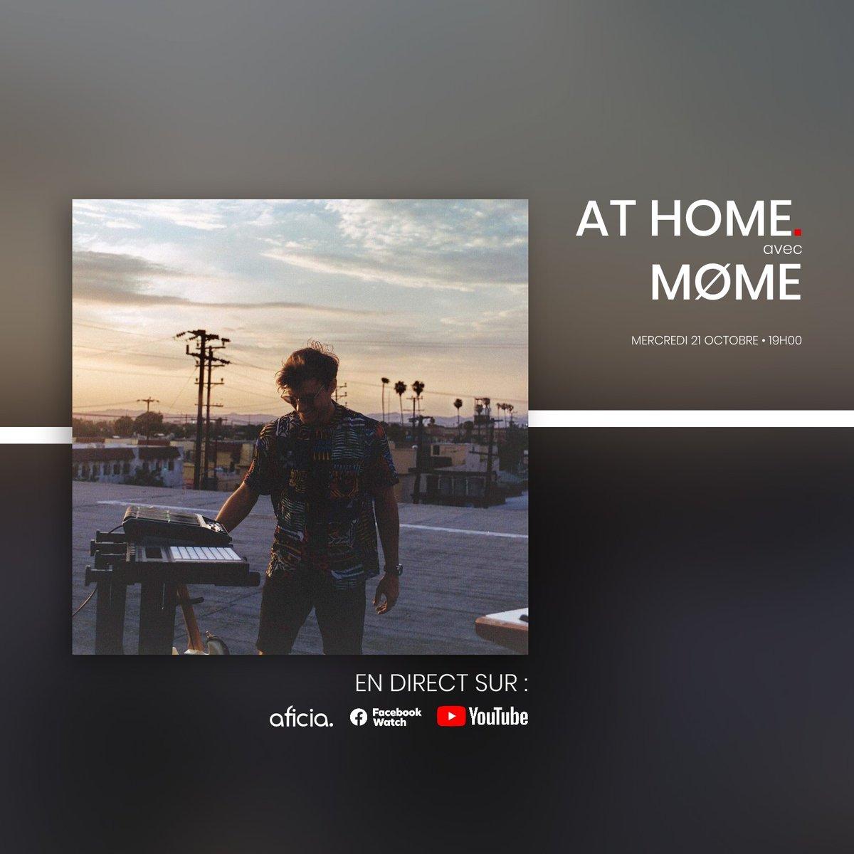 """Demain, 19H, live session #ATHOME avec @momeofficial  On parlera de son single """"They Said"""", de son nouvel album #FlashbackFM, de #musique...   https://t.co/HmGHUlDtWO https://t.co/qdF3vFbYZk"""