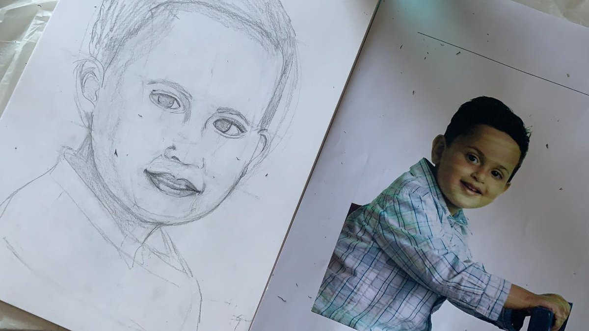 So much beauty in humans and portraits have been some of my favourite things to work one. A sketch of my son I've been working on.  For custom portrait oil-painting pieces, message +966555178712!  #artistinjeddah #saudiarabia #jeddah #potrait #ksaartist #رسم #السعودية #ثول #جدة https://t.co/wq41ul0Qxp