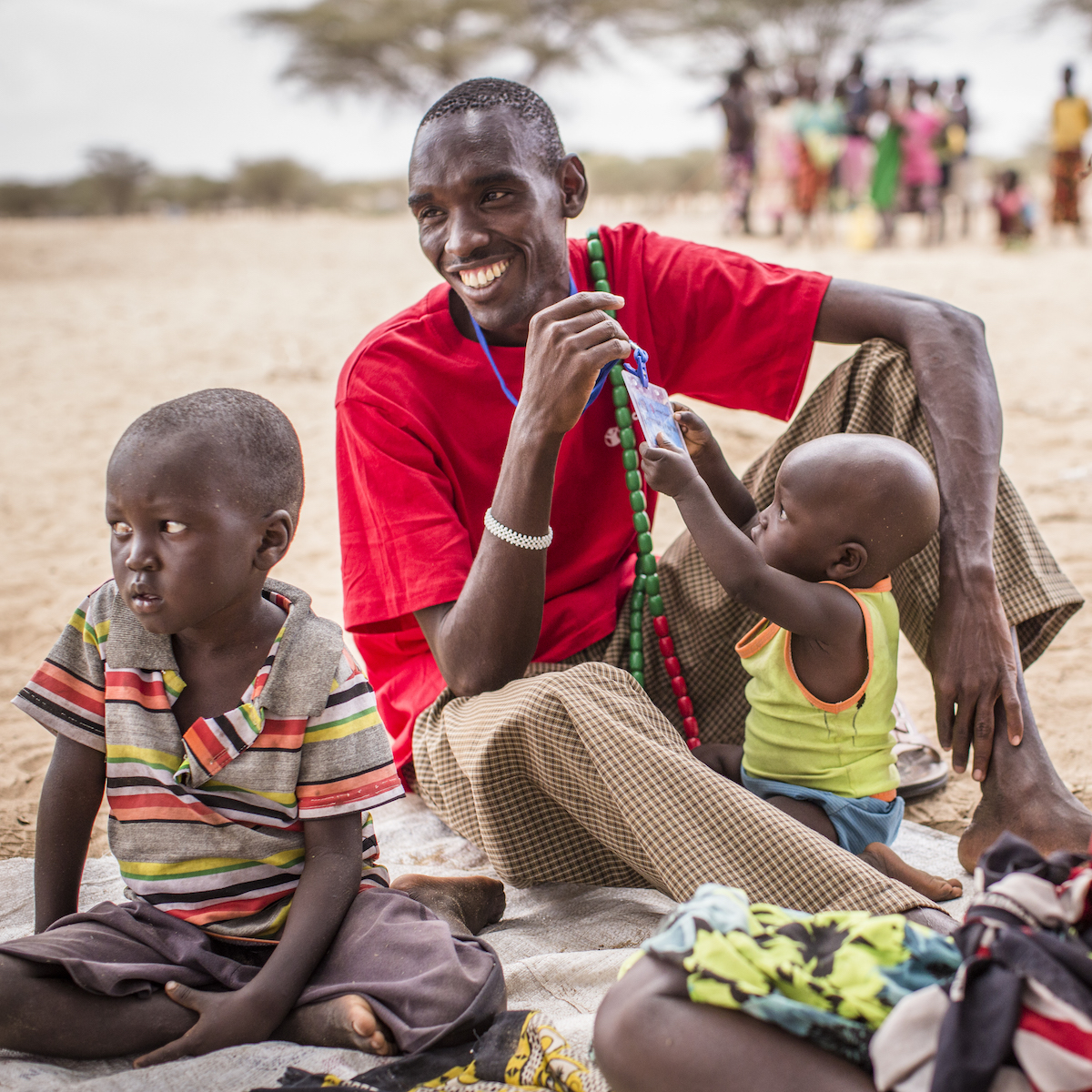 I decided to be a volunteer to help my community. Lucas has been a community health volunteer in Turkwel, Kenya for over a decade. He looks after 107 households, helping to diagnose children with pneumonia, malnutrition, & encouraging families to seek earlier medical care.