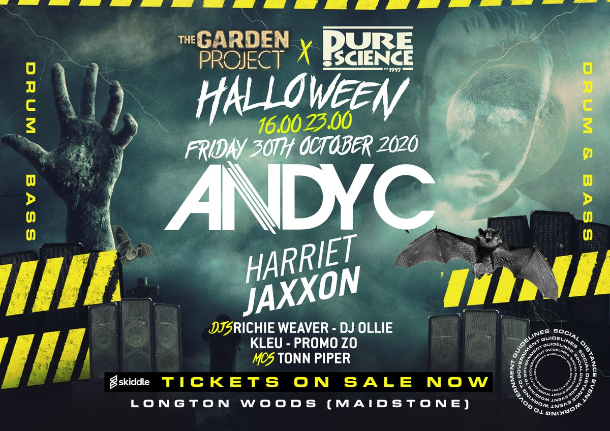 Jeeeze! And how is this gonna be next Friday already!!  @PureScienceHQ 👻  Me, @DJOlliednb, Richie Weaver, Kleu,  @TonnPiper, @HARRIETJAXXON and @ANDYC_ram 😱🔥  Tickets >> https://t.co/WbS0raenrp  #dnb #drumandbass #puresciencednb #junglednb https://t.co/lxoc1H8QUn