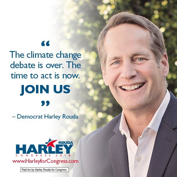 """""""Flooding from sea level rises has destroyed our property, wildfires have threatened our safety and economic security, and extreme heat events are putting our most vulnerable at risk."""" ~ Harley Rouda  #CA48  #Election2020    #ClimateAction    #Congress 14/17"""