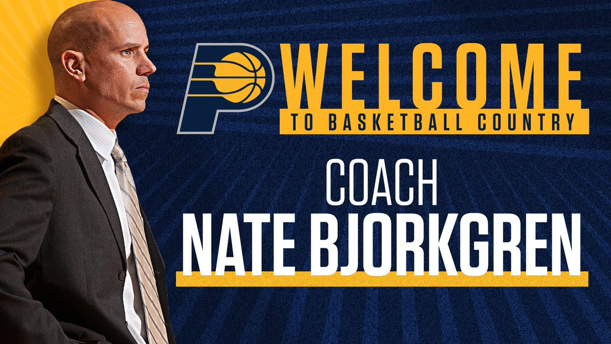 OFFICIAL: We have hired Nate Bjorkgren as our new head coach. Bjorkgren most recently served as an assistant on the Toronto Raptors, who won the NBA Championship during the 2018-19 season. Welcome to Indiana, Coach Bjorkgren!  More info >> https://t.co/Ol4LiOzMcM https://t.co/LnNF4wy79P