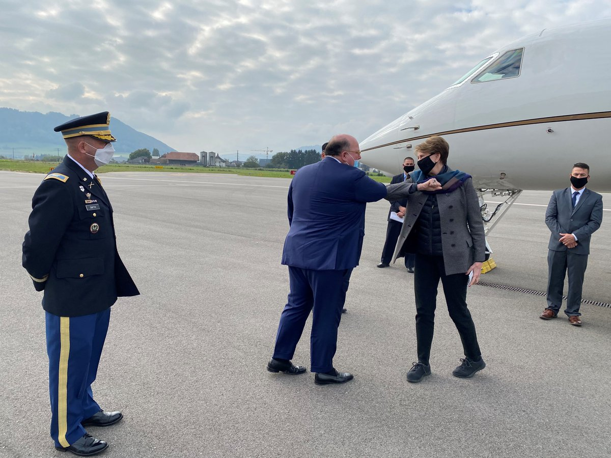 Thank you #Switzerland for longstanding cooperation & partnership in technical excellence. The @USAirForce values Switzerlands strategic perspective & experience. We look forward to taking our relationship to new heights together. #SharedPriorities